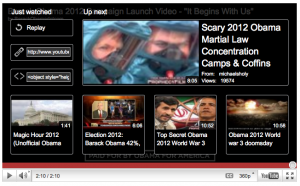 Oops! YouTube postreel on Obama 2012 suggests anti-Obama videos