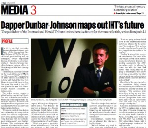 """Dapper Dunbar-Johnson"" and the new IHT"