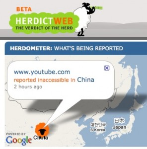 Herdict: Real time tracking of Internet censorship